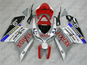 Xerox Grey/Red Ducati 1198 1098 848 Evo Fairings