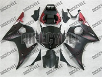 Yamaha YZF-R6 Matte Black Flame Fairings