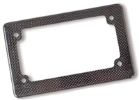 Carbon Fiber Molded License Plate Frame W/ Rolled Edges