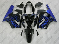 Kawasaki ZX12R Ice Blue Flame Fairings