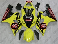 Yellow/Black Suzuki GSX-R 600 750 Fairings