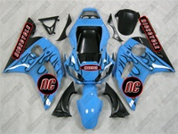 Yamaha YZF-R6  Blue/Black Flames Fairings