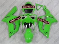 Kawasaki ZX6R Green Fairings