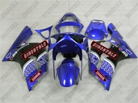 Kawasaki ZX6R Plasma Blue Race Fairings