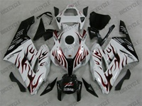 Honda CBR 1000RR White/Red Flame Fairings