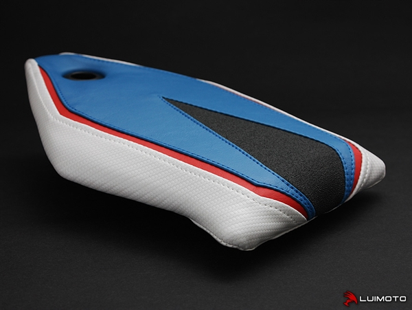 bmw s1000rr 2015-2016 blue/pearl white motorcycle seat cover
