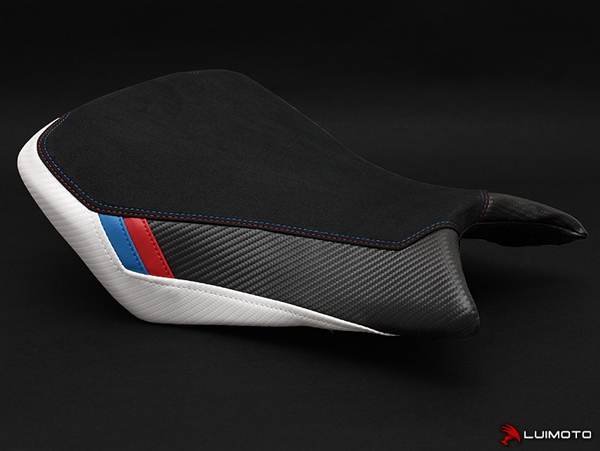 bmw s1000rr 2015-2016 white/black motorcycle seat cover | rider