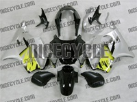 Yellow/Silver Honda CBR 600 F4 Fairings