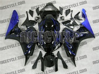 Honda 1000RR Ice Blue Flame Fairings
