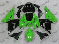 Kawasaki ZX10R Black on Green Fairings