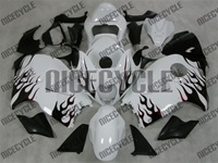 Gloss White/Flamed Hayabusa Fairing