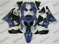 Blue Airbrushed Honda CBR900RR Motorcycle Fairings