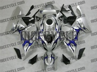 Honda CBR1000RR Silver/Tribal Blue Fairings