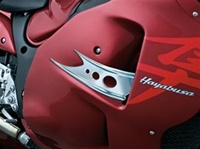 Chrome Fairing Exit Vent Accent 1999-2007 Hayabusa