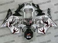 Honda CBR954RR White/Red Flame Fairings
