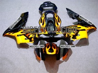 Honda CBR600RR Yellow Flame Fairings