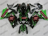 Suzuki GSX-R 1000 Green Flame Fairings