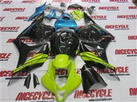 Neon Green Blue Honda CBR 600RR Fairings