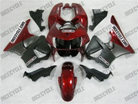 Satin Black/Red Honda CBR900RR Motorcycle Fairings