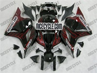 Honda CBR600RR Black/Red Flame Fairings