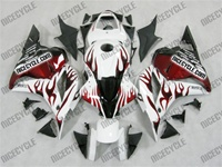 Honda CBR600RR White/Red Flame Fairings