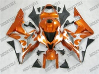 Honda CBR600RR Metallic Orange Tribal Fairings