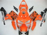 Honda CBR600RR Orange Tribal Fairings