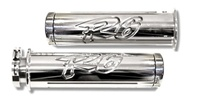 R6 (99-02) Polished & Engraved Straight Grips  (product code# A2946)