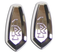 R1 Mirror Caps Polished and Engraved (product code# A2949)
