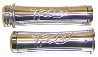 R6 (99-02) Polished & Engraved Curved In Grips (product code# A2955)