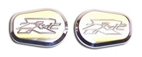 Kawasaki ZX12 Turn Signal Caps Polished and Engraved (product code# A2977)