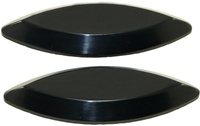 Kawasaki ZX12 Mirror Caps Anodized Black (product code# A2985B)