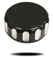 "ANODIZED BLACK ""LRC"" BILLET ALUMINUM REAR BRAKE CYCLINDER COVER FOR R1 (98-03) (product code# A3033ABLRC)"