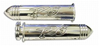 R6 (03-05) STRAIGHT BILLET ALUMINUM GRIPS POLISHED WITH POINTED ENDS (product code A3042P)