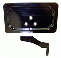 FOOTPEG MOUNT LICENSE PLATE BRACKET (ANODIZED BLACK) (PRODUCT CODE #A3065AB)