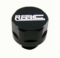 BLACK ANODIZED SUZUKI OIL CAP ENGRAVED WITH LRC (product code# A3169ABLRC)