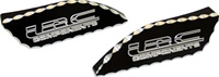 HAYABUSA TANK PADS (99-07) BLACK ANODIZED, DIAMOND CUT & ENGRAVED WITH LRC(Product Code #A3175ABLRCD)