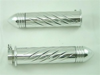 Polished Straight Grips With Swirled Design & Pointed Ribbed Ends for Honda (product code# A3246PR)
