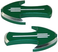 Kawasaki ZX6R (2005-2012), ZX10 (2005-10) Mirror Caps, Tattoo Design, Green (product code# A4026GR)