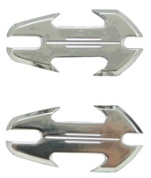 Yamaha R6S & R1 (all years) Chrome Mirror Caps, Tattoo Design (product code A4030C)