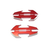Yamaha R6S & R1 (all years) Anodized Red Mirror Caps, Tattoo Design (product code A4030R)