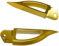 Blade Style Anodized Gold Rear Footpeg Set for Suzuki Hayabusa 99-07 (product code: A4262G)