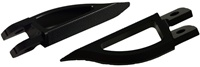 Blade Style Anodized Black Front Footpeg Set for Suzuki Hayabusa 99-Present (product code: A4263B)