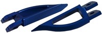 Blade Style Anodized Blue Front Footpeg Set for Suzuki Hayabusa 99-Present (product code: A4263BU)