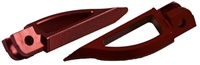 Blade Style Anodized Red Front Footpeg Set for Suzuki Hayabusa 99-Present (product code: A4263R)