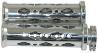 UNIVERSAL POLISHED GRIPS WITH FLAT ENDS & DIAMOND CUT-OUT, SEE FITMENTS BELOW  (PRODUCT CODE: A4286)