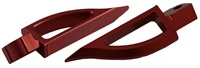 Blade Style Anodized Red Rear Footpeg Set for Suzuki GSXR / Hayabusa (product code: A4289R)