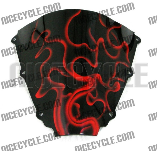 Custom Motorcycle Windscreen - Fully Airbrushed and Painted - All Models