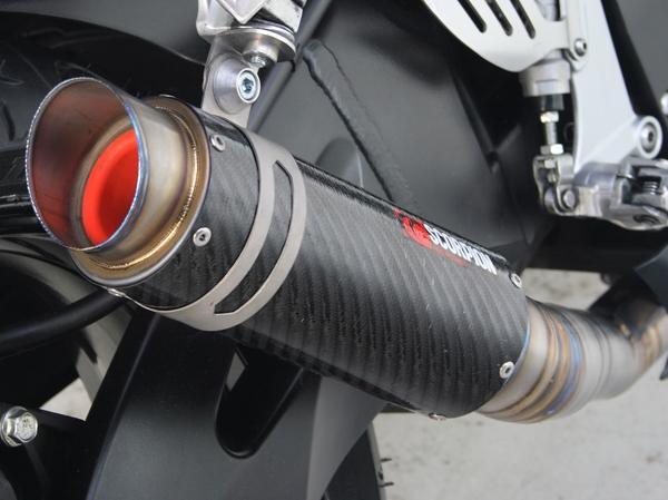 Scorpion ZX10R GP Series Carbon Fiber Exhaust Fits: 2008-2010