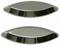 Triple Chromed Kawasaki ZX12 Mirror Caps (product code# CA2985)